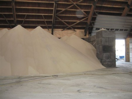storage of fertilizer